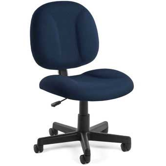 OFM Height Adjustable Task Chair with Swivel - Finish: Black, Arms: Included